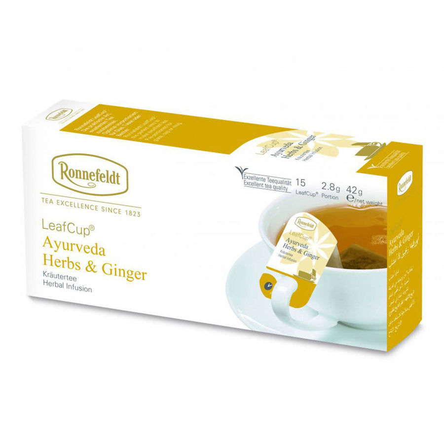 Ronnefeldt LeafCup Ayurveda Herbs & Ginger (15x2.8g)