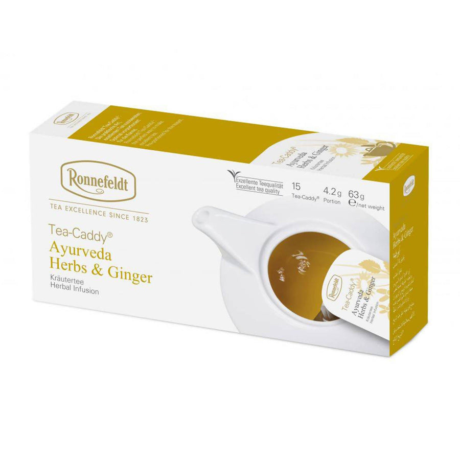 Ronnefeldt Tea-Caddy Ayurveda Herbs & Ginger (15x4.2g)
