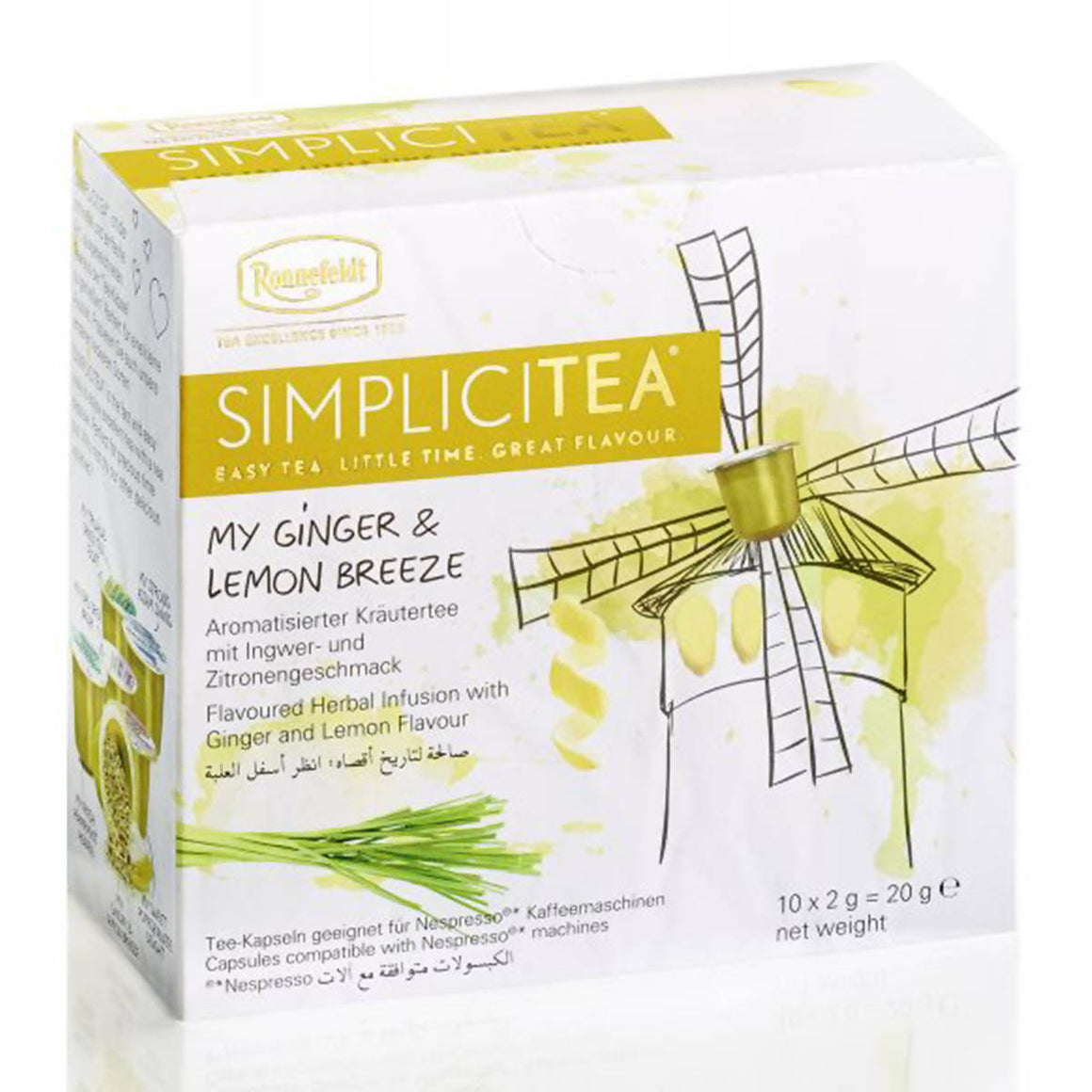 Ronnefeldt SIMPLICITEA My Ginger & Lemon Breeze (10 kapslí)