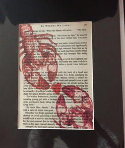 Matted Book Page Prints