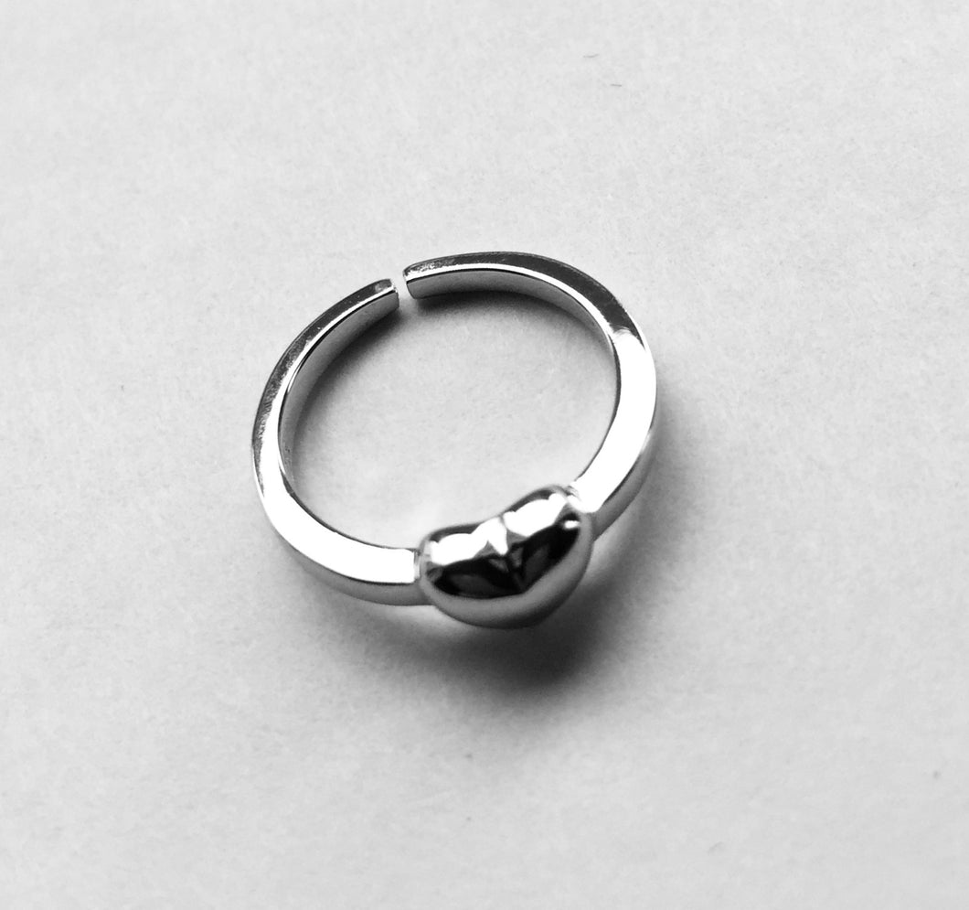 Silver Heart Toe Ring