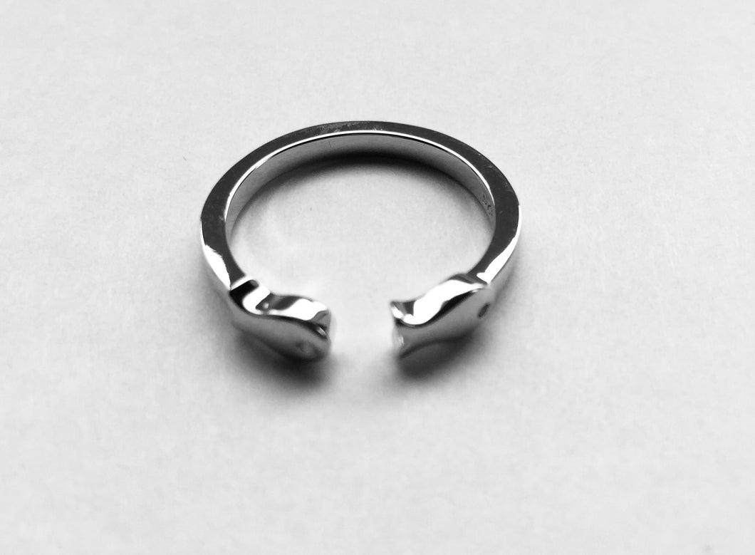 Silver Two Fish Ring