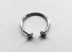 Sterling Silver End to End Nail Head Ring