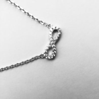 Silver Infinity CZ Necklace