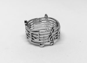 Sterling Silver Musical Notes Rings