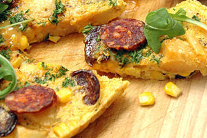 Spanish Frittata With Potato and Chorizo recipe