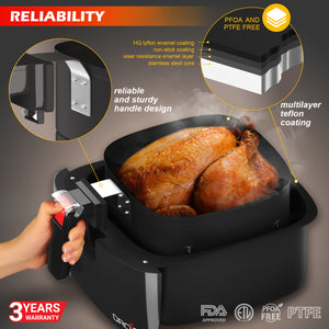 Air Fryer with Detachable Heating Element - HomiaStore