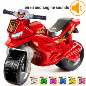 Kidzeüg Ride-on Push Bike Siren and Engine Sounds - HomiaStore