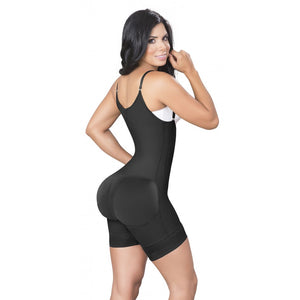 JACKIE LONDON 2011 BLACK - SHORTS BODY SHAPERS WITH COVERED BACK AND PERINEAL ZIPPER