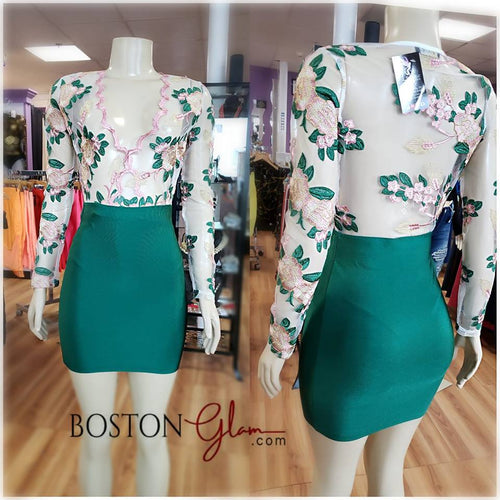 BANDAGE SKIRT-SK110 HUNTER GREEN