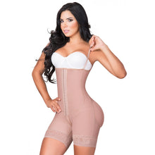 Load image into Gallery viewer, JACKIE LONDON 2011 MOCCA - SHORTS BODY SHAPERS WITH COVERED BACK AND PERINEAL ZIPPER