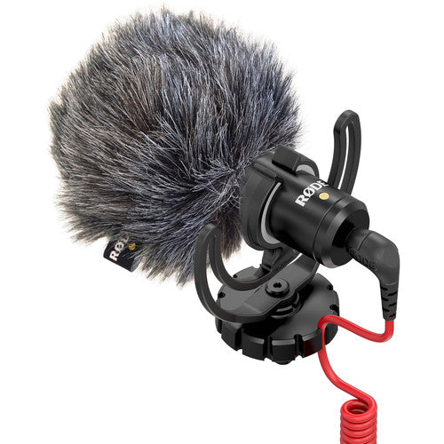 RODE VideoMicro Compact On-Camera Microphone with Deluxe Furry Windshield - Cam Caddie - The Original Universal Stabilizing Camera Handle
