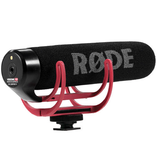 RODE VideoMic GO Camera Shotgun Microphone with Integrated Cold-Shoe Mount and Windshield - Cam Caddie - The Original Universal Stabilizing Camera Handle