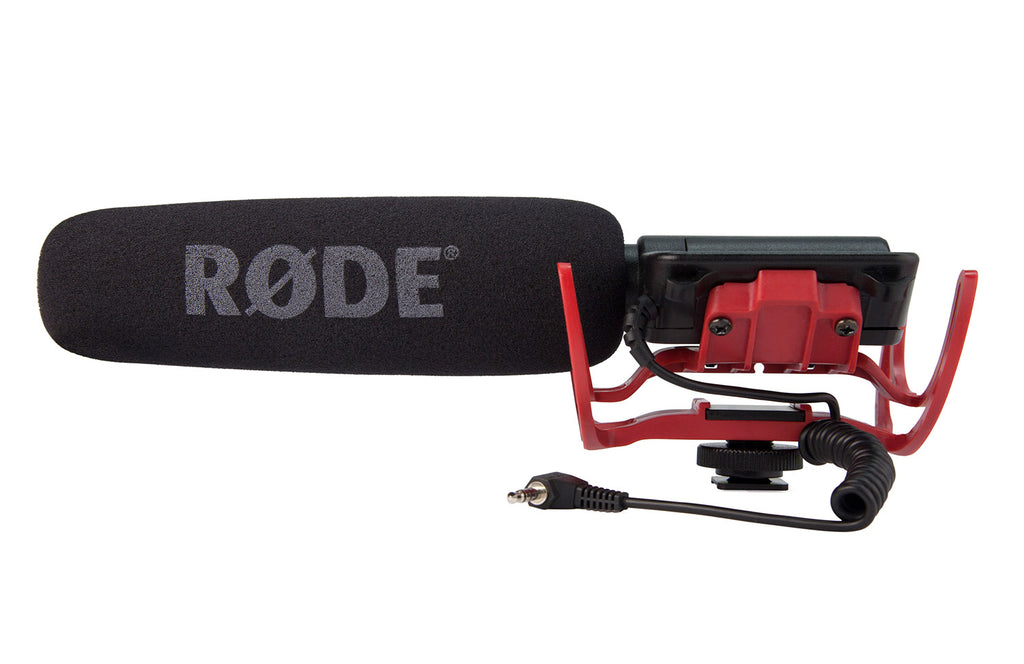 RODE VideoMic-R Shotgun Microphone with Rycote Lyre Mount - Cam Caddie - The Original Universal Stabilizing Camera Handle