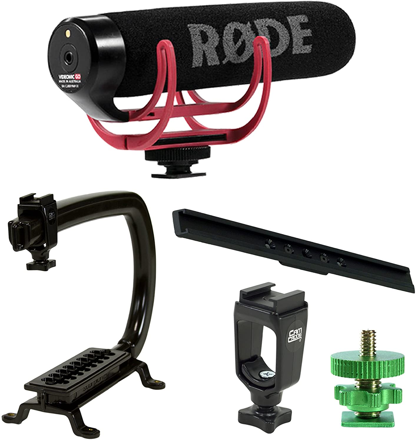Cam Caddie Scorpion EX Starter Kit + RODE VideoMic GO Camera Stabilizer Bundle