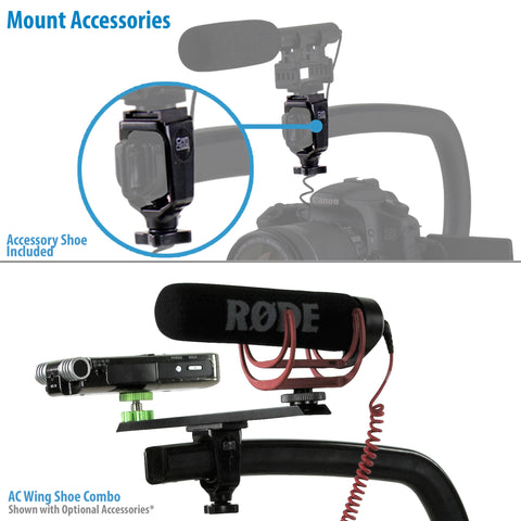 Cam Caddie Scorpion EX Expandable Camera Stabilizer - Skateboard Handle with Threaded Brass Feet