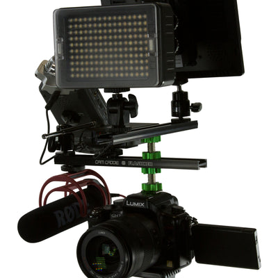 Cam Caddie 8 Inch Flashner Kit - Flash Shoe Extension Bracket for DSLR and Mirrorless Cameras - Cam Caddie - The Original Universal Stabilizing Camera Handle