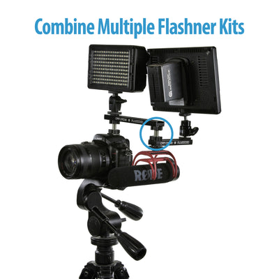 Cam Caddie D-Flashner Dual Sided Cold Shoe Flash Adapter - Cam Caddie - The Original Universal Stabilizing Camera Handle