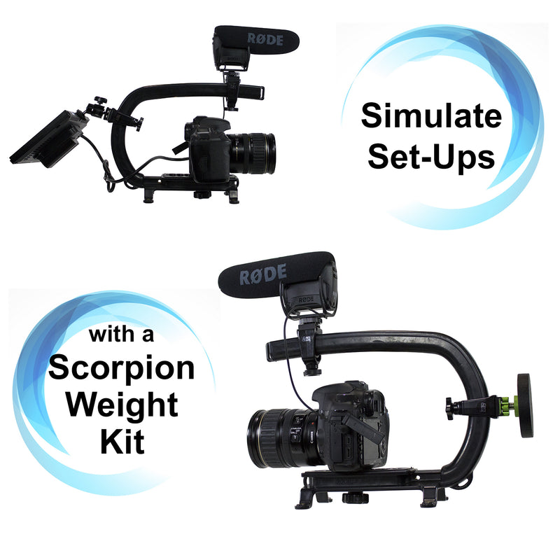 Cam Caddie Scorpion Camera Handle Stabilizing Weight Kit - Cam Caddie - The Original Universal Stabilizing Camera Handle