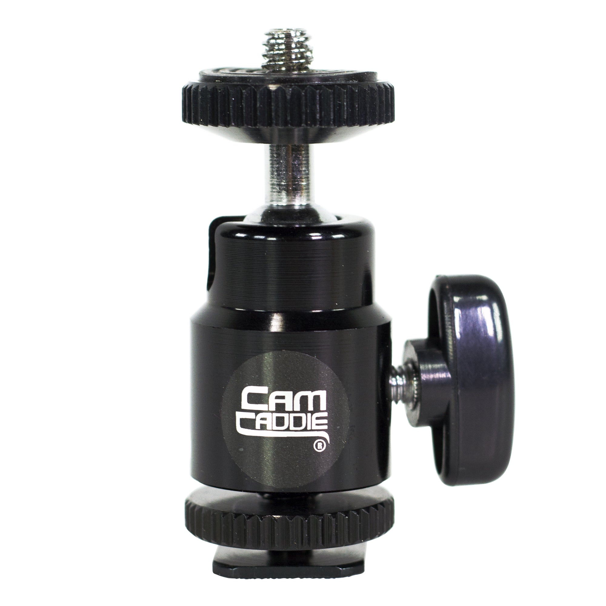 "Cam Caddie Mini Ball Head 1/4""-20 Camera Stabilizer Accessory Mount - Cam Caddie - The Original Universal Stabilizing Camera Handle"