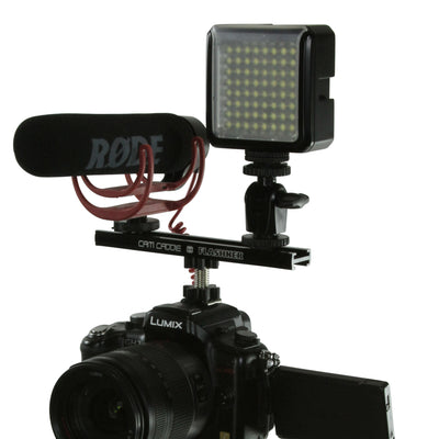 Cam Caddie 6 Inch Flashner Kit - Flash Shoe Extension Bracket for DSLR and Mirrorless Cameras - Cam Caddie - The Original Universal Stabilizing Camera Handle