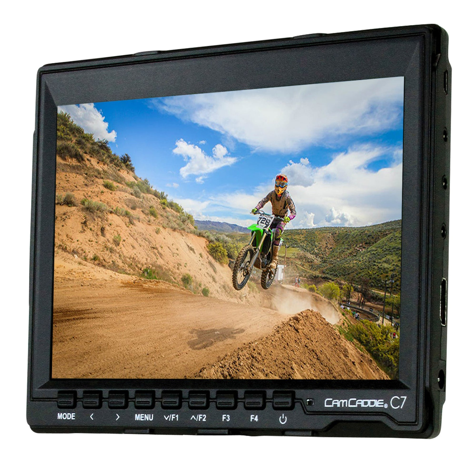 "Cam Caddie C7 7"" 1280 x 800 HD IPS Field Monitor + Canon LP-E6 Battery Plate + EU Compatible Power Supply - Cam Caddie - The Original Universal Stabilizing Camera Handle"