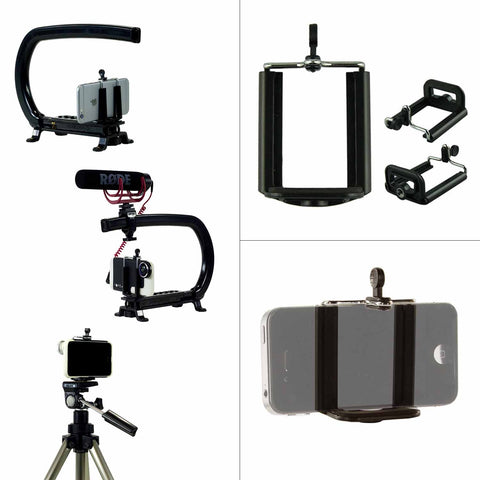 Cam Caddie Smartphone Camera Stabilizer Tripod Mount - Works with iPhone 12 Pro , Galaxy S20, Note 20 and More