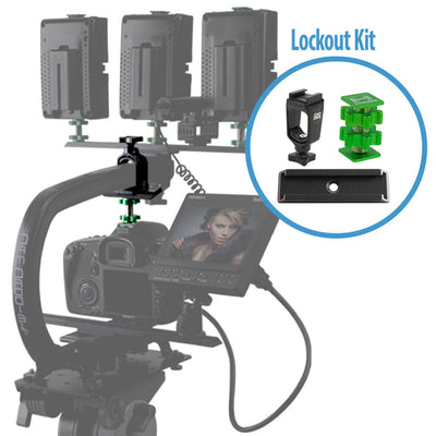 DSLR or Mirrorless Camera Stabilizer Lockout Kit for Cam Caddie Scorpion