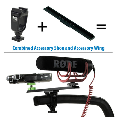 DSLR Flash shoe Extension and Accessory Wing for Scorpion Camera Handle Grip Stabilizer