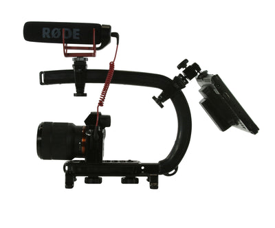 Cam Caddie Scorpion MAX Edition Universal Stabilzing Camera Handle - Includes 2 Accessory Shoes - Cam Caddie - The Original Universal Stabilizing Camera Handle
