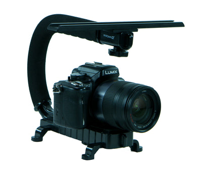 Cam Caddie Scorpion Jr Camera Stabilizer + 10 Inch Accessory Wing Mount - Black - Cam Caddie - The Original Universal Stabilizing Camera Handle