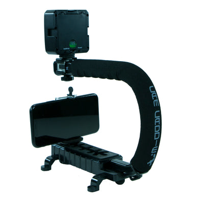 Cam Caddie Scorpion JR Triple Shoe Skateboard Camera Stabilizer Handle - Black - Cam Caddie - The Original Universal Stabilizing Camera Handle