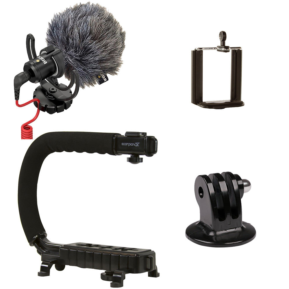 Cam Caddie Scorpion JR + RODE VideoMicro Camera Stabilizer/Microphone Bundle - Cam Caddie - The Original Universal Stabilizing Camera Handle