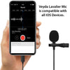VEYDA VD-LL1 Lightning Adapter Lavalier Lapel Clip-on Microphone - Works with iPhone and iPad - Cam Caddie - The Original Universal Stabilizing Camera Handle