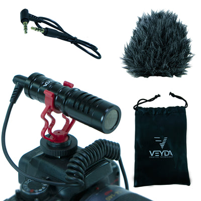 VEYDA VD-SG1 Universal Shotgun Microphone - Cam Caddie - The Original Universal Stabilizing Camera Handle