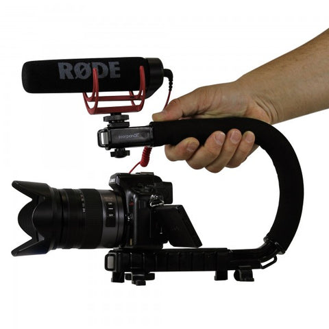 Cam Caddie Scorpion Jr Camera Stabilizer Handle for DSLR, GoPro and Smartphones