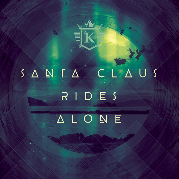 "Kit Taylor - ""Santa Claus Rides Alone"" cover art"