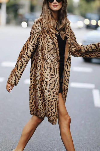 Fashion Leopard Print Long Sleeve Cardigans Outerwear