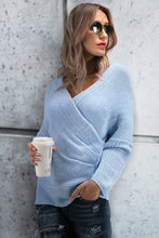Load image into Gallery viewer, Casual Elegant Casual Slim Plain Deep V Collar Long Sleeve Sweater