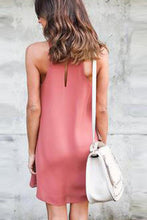 Load image into Gallery viewer, Halter  Cutout  Back Hole  Plain  Sleeveless Casual Dresses
