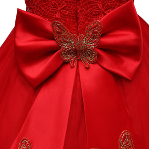 Sequin Embroidered Bowknot  Ball-Gown Dress