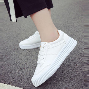Casual Pure Color Leather Surface Flat Shoes