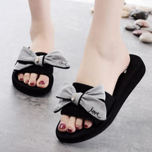 Load image into Gallery viewer, Mid Heeled  Peep Toe  Beach Casual Slippers