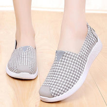Load image into Gallery viewer, Houndstooth  Flat  Round Toe  Casual Sneakers