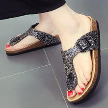 Load image into Gallery viewer, Flat  Peep Toe  Beach Casual Slippers