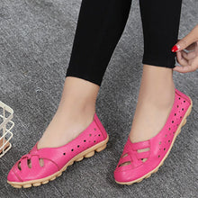 Load image into Gallery viewer, Hollow Out Plain  Flat  Round Toe  Casual Flat & Loafers