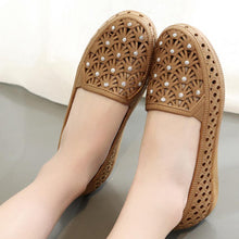 Load image into Gallery viewer, Hollow Out  Flat  Round Toe  Casual Flat & Loafers