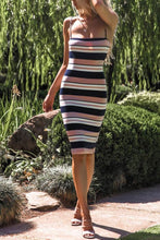 Load image into Gallery viewer, Spaghetti Strap  Backless  Striped  Sleeveless Bodycon Dresses