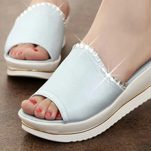 Load image into Gallery viewer, Plain  High Heeled  Peep Toe  Casual Date Slippers