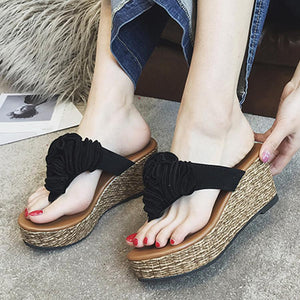 Floral Plain  High Heeled  Velvet  Peep Toe  Casual Date Slippers